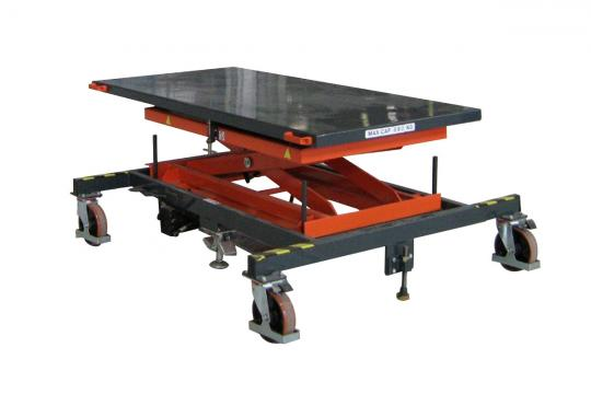 Table mobile pour ligne de production